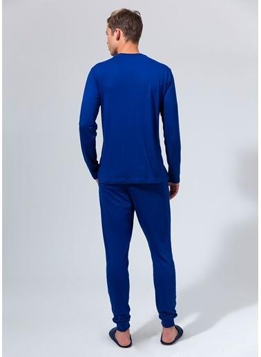 Dagi O Patlı Uzun Kollu Pijama Takımı Saks